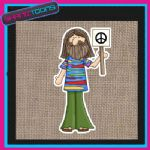 60'S HIPPY DESIGN JUTE  SHOPPING LADIES GIFT BAG 007